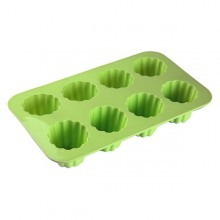 Silicone Cupcake Moulds Cannelés Silicone (17 x 5 x 29 cm) (8 uds)
