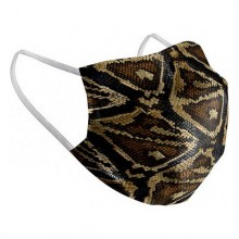 Hygienic Reusable Fabric Mask Snake Adult