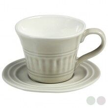 Cup with Plate Porcelain (15 X 10 x 12 cm)