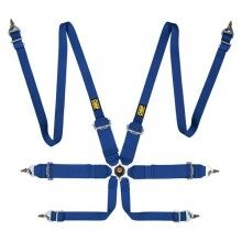 Harness with 6 fastening points OMP Pull Up Steel ADJ
