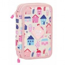Double Pencil Case Glow Lab Welcome Home Pink (28 pcs)