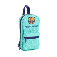 Pencil Case Backpack F.C. Barcelona 19/20 Turquoise (33 Pieces)