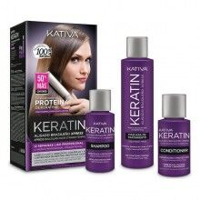 Hair Straightening Treatment Kativa Keratin Brasilian (3 pcs)