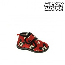 House Slippers Mickey Mouse Red