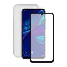 Tempered Glass Mobile Screen Protector + Mobile Case Huawei P Smart 2019 Contact