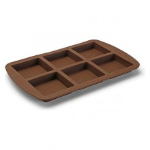 Oven Mould Brownies Silicone (21 x 2,2 x 33 cm) (6 uds)