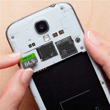 Micro SD Memory Card with Adaptor PNY 64 GB 100 mb/s