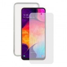 Tempered Glass Mobile Screen Protector + Mobile Case Samsung Galaxy A30s/A50 Contact