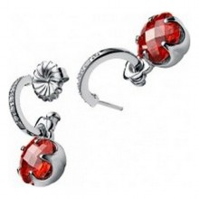Ladies'Earrings Viceroy 8006E000-33 Silver Red (3 Cm)