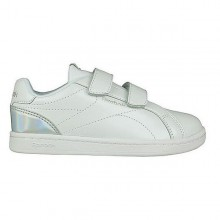 Children's Casual Trainers Reebok Royal Complete Clean Velcro White Silver