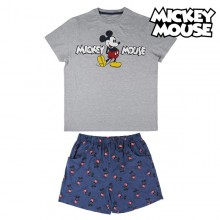 Summer Pyjama Mickey Mouse Grey Blue