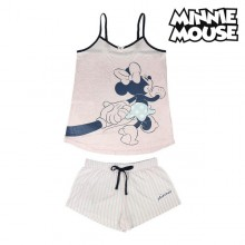 Summer Pyjama Minnie Mouse Pink Adults