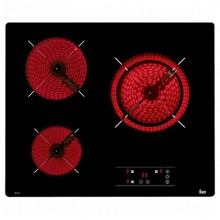 Glass-Ceramic Hob Teka TB6310 60 cm Black (3 cooking areas)