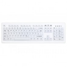 Washable Disinfectable Keyboard Active Key AK-C8100F USB White