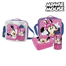 Lunchbox with Accessories Minnie Mouse Burgundy