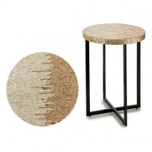 Side Table Gift Decor Silver (45 x 62 x 45 cm)