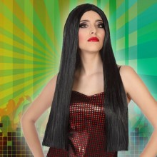 Long Haired Wig Black