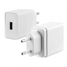 USB  Wall Charger KSIX Quick Charge 3.0 White