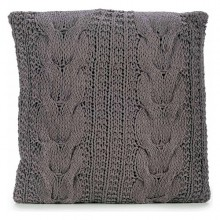 Cushion Gift Decor Grey Wool (45 x 1 x 45 cm)