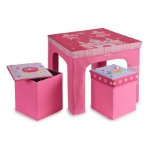 Child's Table Set and Basket Gift Decor (60 x 48 x 60 cm)